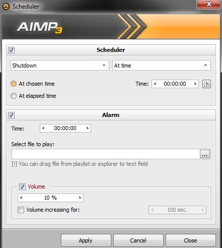 winamp radio scheduler:
