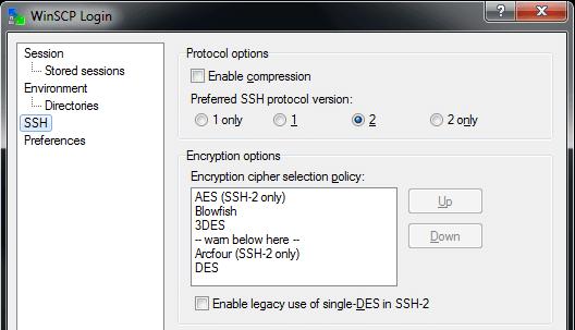 WinSCP SSH