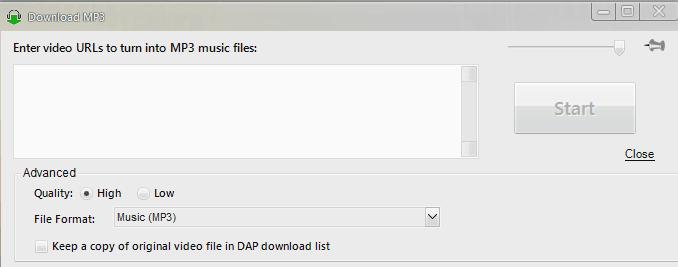 DAP Video to MP3