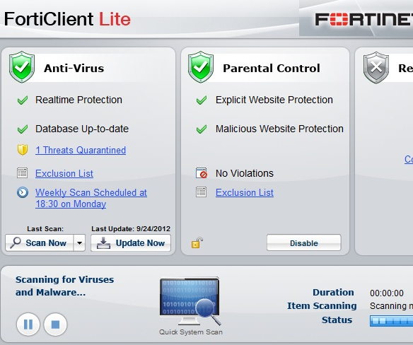 FortiClient Free SSL VPN Antivirus Lite 4 3 5 Review for