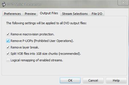 DVDShrink Output Files