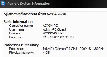 Teamviewer Remote System Info