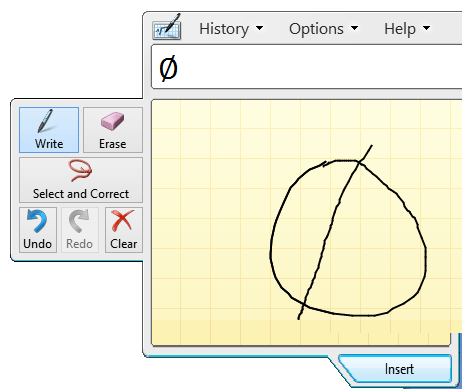 Windows 8 Math Input Panel