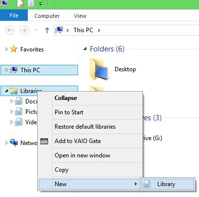 Windows 8 New Library